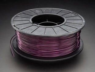 PLA Filament for 3D Printers - 1.75mm Diameter - Purple Translucent - 1KG