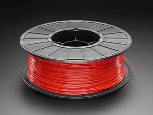 Spool of PLA filament for 3D printers - red color with 1.75mm Diameter.