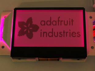 Graphic ST7565 Positive LCD (128x64) with RGB backlight + extras - ST7565