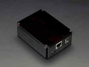 Anidees Beaglebone Black Case - Black Aluminum with Smoke Top