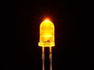 Super Bright Yellow 5mm LED (25 pack)