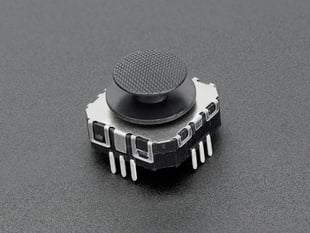 Mini 2-Axis Analog Thumbstick with through-hole contacts