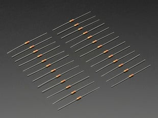 Through-Hole Resistors - 22K ohm 5% 1/4W - Pack of 25