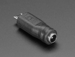 MicroUSB to 5.5/2.1mm DC Barrel Jack Adapter