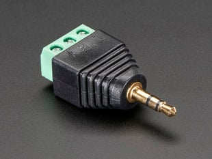 "3.5mm (1/8"") Stereo Audio Plug Terminal Block"