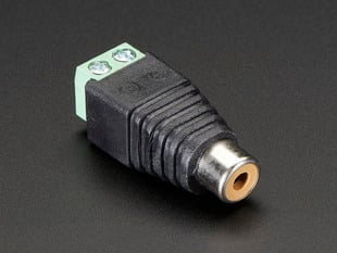 RCA (Composite Video, Audio) Female Jack Terminal Block