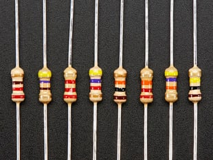 Through-Hole Resistors - 220 ohm-100K ohm - 5% 1/4W