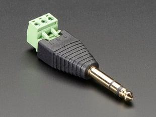 "1/4"" (6.35mm) Stereo Plug Terminal Block"