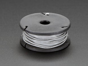 Small spool of gray wire