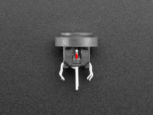 Mini Illuminated Momentary Pushbutton - Red Power Symbol