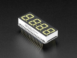 "Adafruit 0.56"" 4-Digit 7-Segment Display w/ FeatherWing - White"