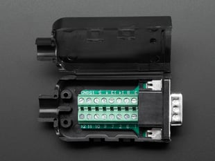 Top view of opened up DE-15 (DB-15) Male Plug to Terminal Block Breakout.