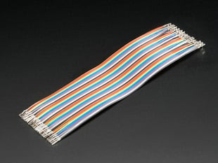 "Premium Female/Female Raw Custom Jumper Wires - 40 x 6"" (150mm)"