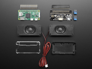 Stereo Bonnet Pack for Raspberry Pi Zero - Includes Pi Zero v1.3
