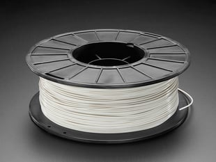 Spool of PLA filament for 3D printers - cool grey color with 1.75mm Diameter.