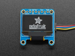 "Monochrome 0.96"" OLED module with Adafruit logo"