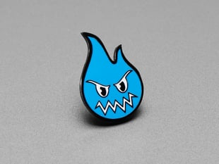 Sparky the Blue Smoke Monster Limited Edition Enamel Pin