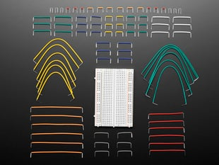Half Size Breadboard + 78 Piece 22AWG Jumper Wire Bundle
