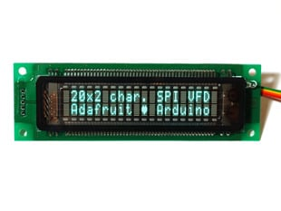 20x2 Character VFD (Vacuum Fluorescent Display) - SPI interface - 20T202DA2JA