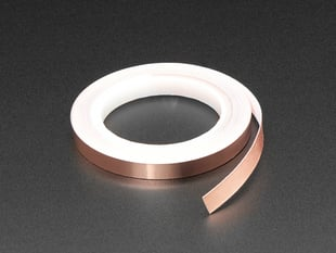 Roll of Copper Foil Tape with Conductive Adhesive - 6mm wide
