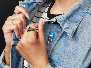 Billie the Blue LED Limited Edition Enamel Pin