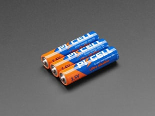 Alkaline AAA batteries - 3 pack