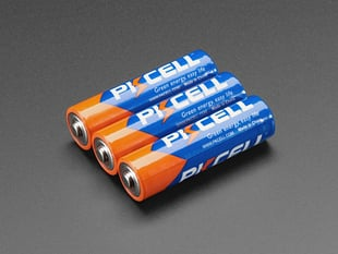 Alkaline AA batteries (LR6) - 3 pack