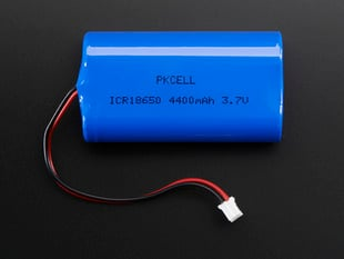 Lithium Ion Battery Pack with two round cells 3.7V 4400mAh with JST PH connector