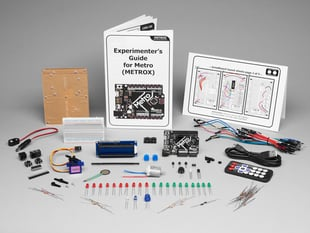 Adafruit MetroX Classic Kit - Experimentation Kit for Metro 328 with lots of components, and booklet