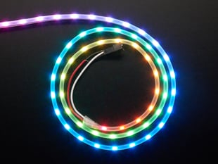 Adafruit NeoPixel LED Side Light Strip - Black 60 LED
