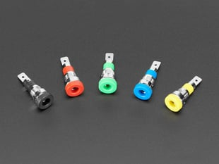 Panel-Mount Banana Jacks 4mm - Pack of 5 Multi-Color