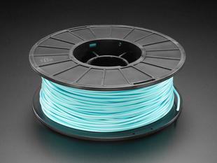 Spool of PLA filament for 3D printers - aqua color with 2.85mm Diameter.