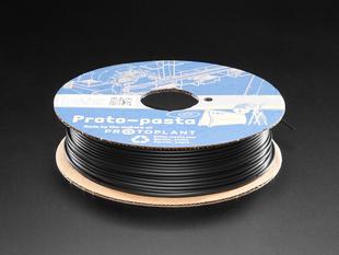 Spool of Proto-Pasta conductive graphite filament for 3D Printers, black color with 2.85mm Diameter