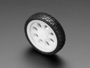 Thin White Wheel for TT DC Gearbox Motors