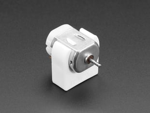 DC Motor Plastic Mount with DC motor installed