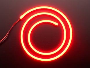 Flexible Silicone Neon-Like LED Strip - 1 Meter - Red