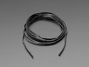 Silicone Cover Stranded-Core Ribbon Cable - 4 Wires 1 Meter Long - 30 AWG Black