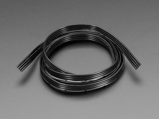 Silicone Cover Stranded-Core Ribbon Cable - 4 Wires 1 Meter Long - 26AWG Black
