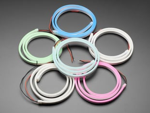 Multiple coils of Flexible Silicone Neon-Like LED Strip in Various Colors