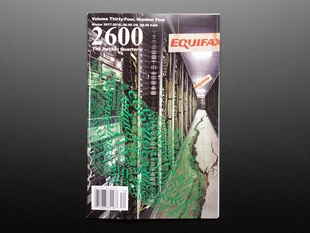 Front cover of 2600: The Hacker Quarterly - Winter 2017-2018.