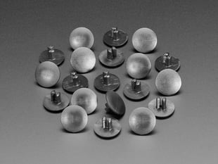 Large Short Plastic Snap Rivets - 9mm to 13mm - 10 pack
