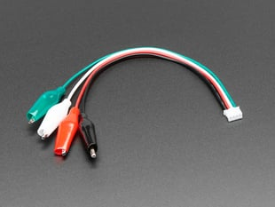 JST PH 4-pin Plug to Color Coded Alligator Clips Cable