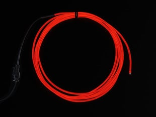 High Brightness Red Electroluminescent (EL) Wire - 2.5 meters - High brightness, long life