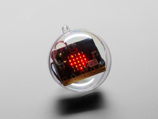 7cm Diameter DIY Ornament Kit with micro:bit board inside