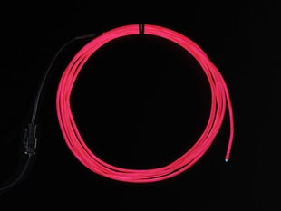 High Brightness Pink Electroluminescent (EL) Wire - 2.5 meters