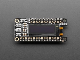 Adafruit FeatherWing OLED - 128x32 OLED Add-on For Feather - With or Without Headers