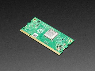 Angled shot of Raspberry Pi Compute Module 3+ 8 GB