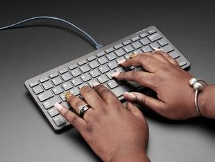 Raspberry Pi Keyboard - Black and Gray