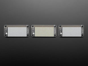 Adafruit CharliePlex LED Matrix Bonnets - 8x16 LEDs - in Various Colors