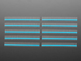 "Break-away 0.1"" 36-pin strip male header - Blue - 10 pack"